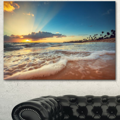 Designart Exotic Beach In Dominican Republic Seashore Canvas Art Print