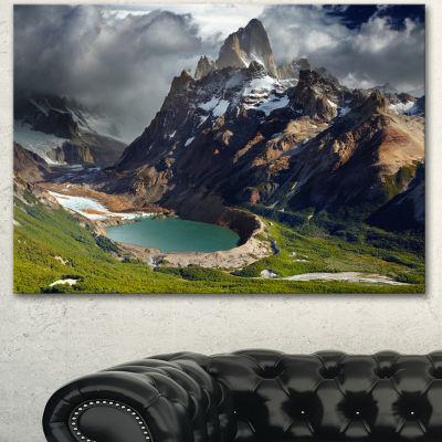 Designart Mount Fitz Roy Patagonia Argentina Landscape Canvas Art Print