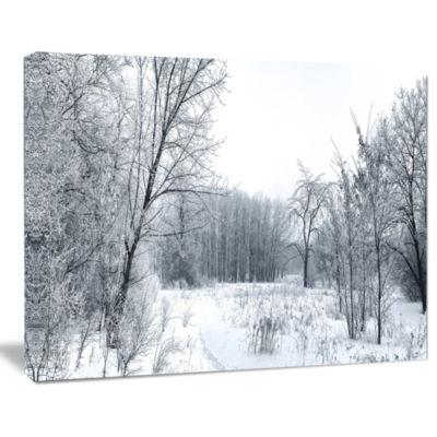 Design Art Beautiful Winter Panorama Landscape Canvas Art Print