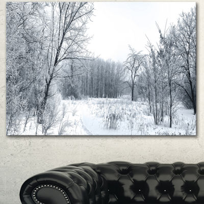 Designart Beautiful Winter Panorama Landscape Canvas Art Print