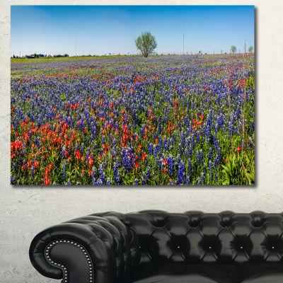Design Art Texas Wildflowers Field Landscape Canvas Art Print