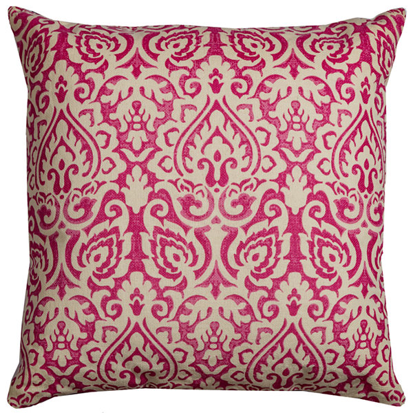 "Rizzy Home Damask Square Throw Pillow - 22"" x 22"""