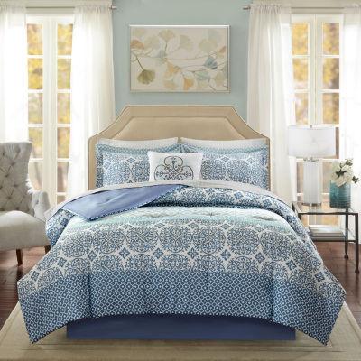Madison Park Essentials Nova 7 Piece Comforter and Sheet Set