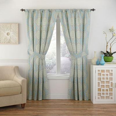 Waverly Mnlight Medallion Rod-Pocket Curtain Panel