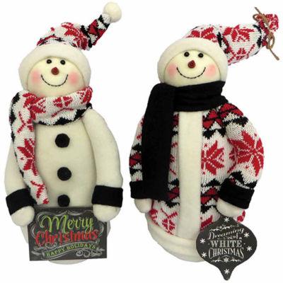 2-pc. Snowman Figurine
