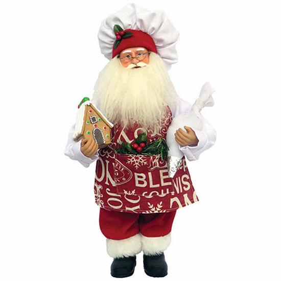 Hand Painted Santa Figurine