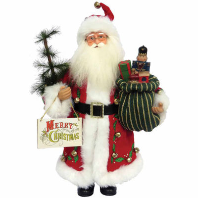 Hand Painted Santa Figurine