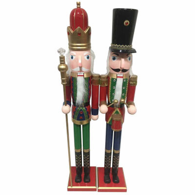 2-pc. Hand Painted Nutcracker