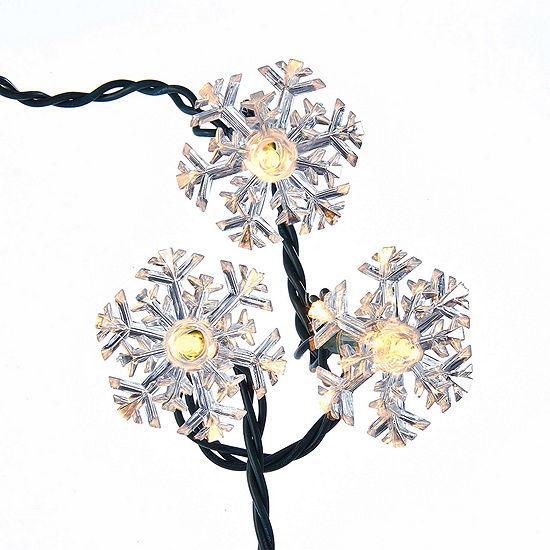 Kurt Adler Snowflake Reflector Light Set