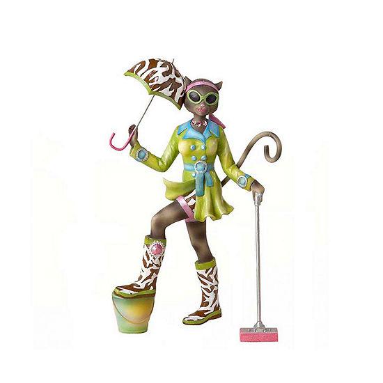 "Kurt Adler 8"" Alley Cats Go Go Mopping Figurine"