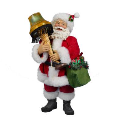 "Kurt Adler A Christmas Story™ 10"" Battery-Operated Leg Lamp Santa With Light"