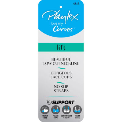 Playtex Love My Curves Beautiful LIft With Embroidery Underwire Bra - US4513