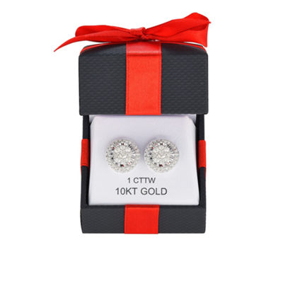 TruMiracle® 1 CT. T.W. Round White Diamond 10K Gold Stud Earrings
