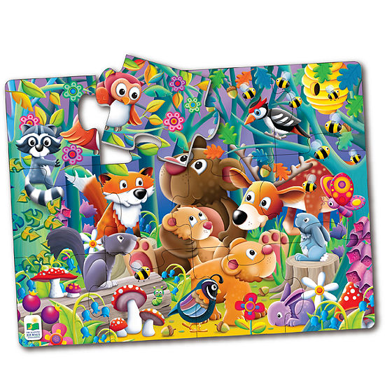 The Learning Journey My First Big Floor Puzzle - Woodland Friends