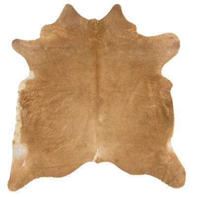 Cowhide Beige Stencil Full Skin Rug