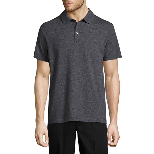 Claiborne Short Sleeve Jersey Polo Shirt