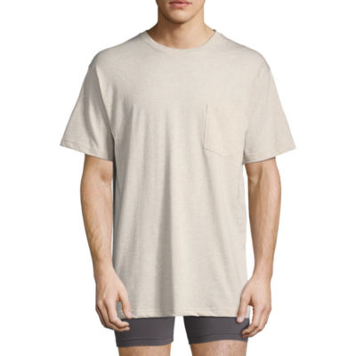 Stafford Performance Heavyweight Crew Pocket Tee w/Wicking – Big & Tall