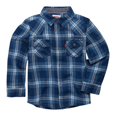 Levi's® ™ Long Sleeve Plaid Shirt - Toddler Boy