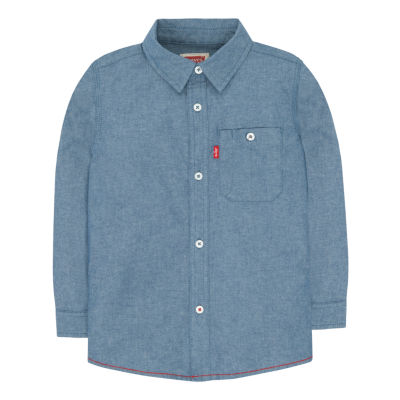 Levi's Long Sleeve Solid Shirt Toddler Boy