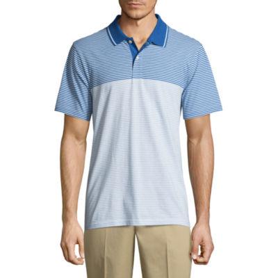 St. John's Bay Easy Care Quick Dry Short Sleeve Stripe Jersey Polo Shirt