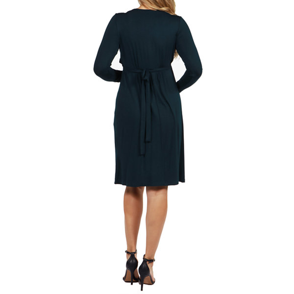 24/7 Comfort Apparel Julie Maternity Dress - Plus