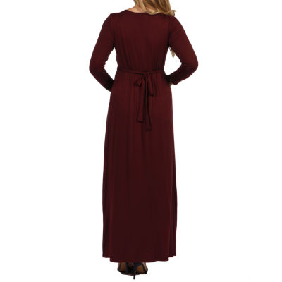 24/7 Comfort Apparel Long Cool Woman Maternity Maxi Dress - Plus