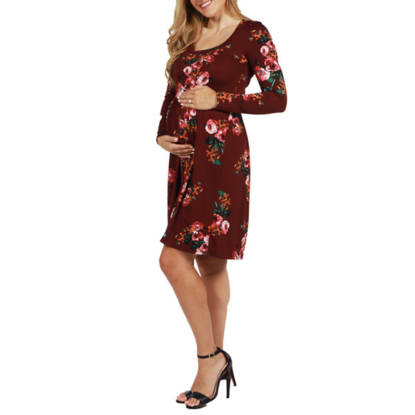 24/7 Comfort Apparel Umbria Maternity Dress - Plus