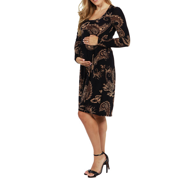 24/7 Comfort Apparel Rebecca Maternity Dress - Plus