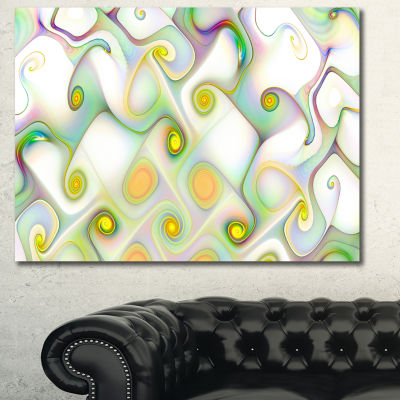 Designart Beautiful Fractal Pattern With Swirls Abstract Canvas Art Print