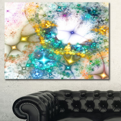 Designart Blue Cosmic Black Hole. Abstract Art OnCanvas - 3 Panels