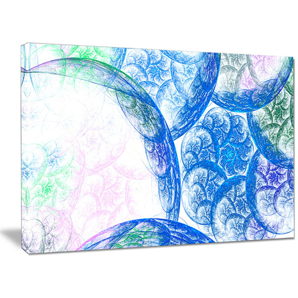 Designart Blue White Dramatic Clouds Abstract Canvas Wall Art
