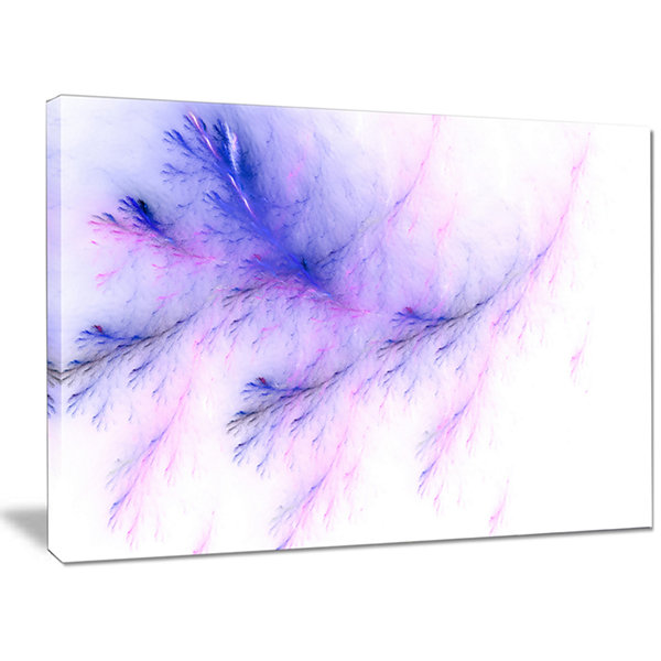 Designart Bright Blue Veins Of Marble Abstract Canvas Art Print