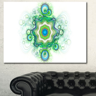 Designart Cabalistic Star Fractal Flower AbstractCanvas Art Print - 3 Panels