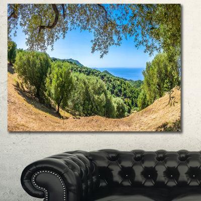 Designart Cilentan Coast Campania Italy LandscapeCanvas Art Print - 3 Panels