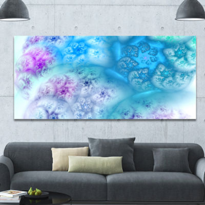 Designart Clear Blue Magic Stormy Sky Abstract Canvas Art Print