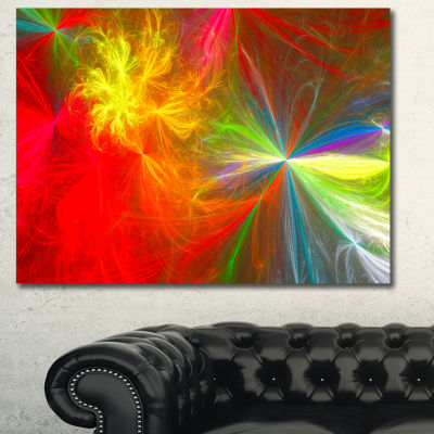 Designart Colorful Christmas Spectacular Show Abstract Canvas Art Print - 3 Panels