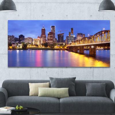 Designart Colorful City Landscape Cityscape CanvasArt Print - 3 Panels