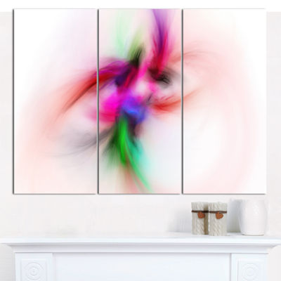 Designart Colorful Electromagnetic Field AbstractWall Art Canvas - 3 Panels