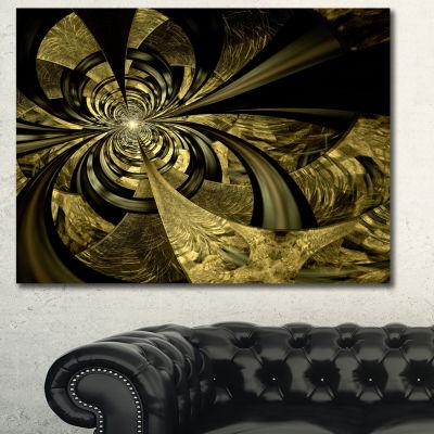 Designart Colorful Fractal Flower Pattern AbstractArt On Canvas - 3 Panels