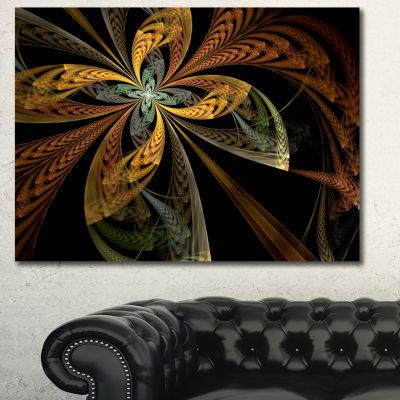 Designart Colorful Fractal Flower Pattern AbstractCanvas Art Print