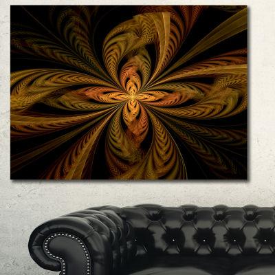 Designart Colorful Fractal Flower Pattern Contemporary Canvas Print Art - 3 Panels