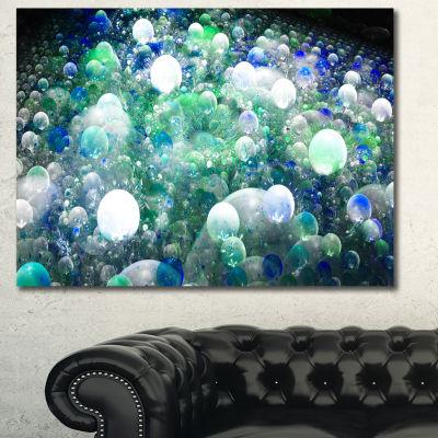 Designart Colorful Molecules Fractal Design Abstract Canvas Art Print