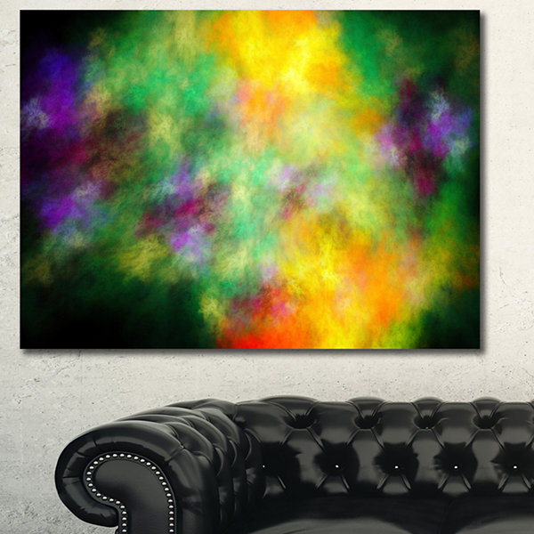 Designart Colorful Sky With Blur Stars Abstract Canvas Art Print