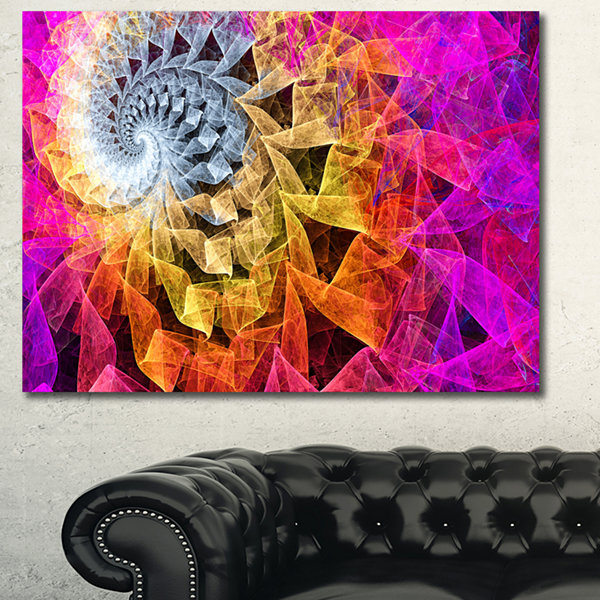Designart Colorful Spiral Kaleidoscope Abstract Wall Art Canvas