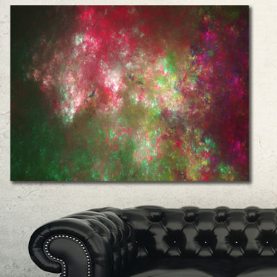 Designart Colorful Starry Fractal Sky Abstract Canvas Art Print
