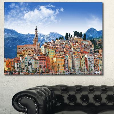 Designart Colors Of Southern Europe Landscape Canvas Art Print - 3 Panels