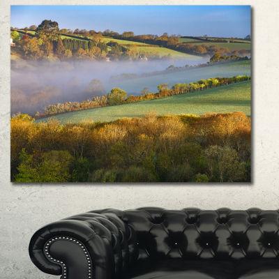 Design Art Cornwall South West England Landscape Canvas Art Print - 3 Panels
