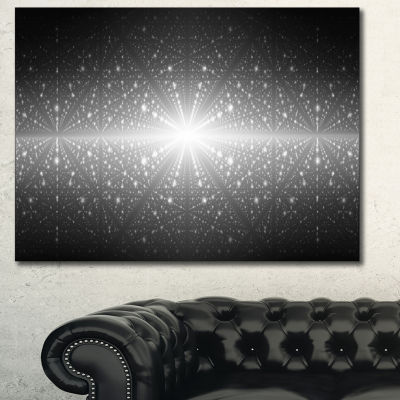 Designart Cosmic Galaxy With Glowing Lights Abstract Wall Art Canvas - 3 Panels