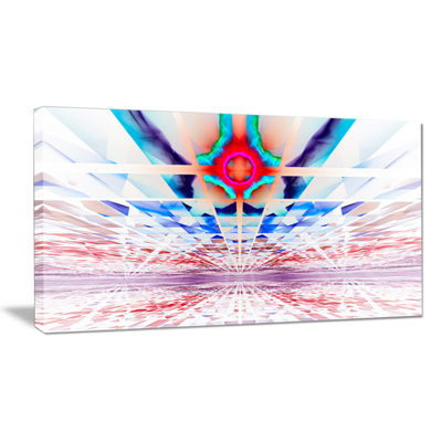 Designart Cosmic Horizons Apocalypse Abstract WallArt Canvas