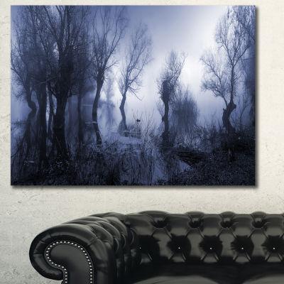 Designart Creepy Landscape In Sepia Tones Landscape Canvas Art Print